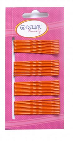 DEWAL BEAUTY Невидимки оранжевые, волна 50 мм, 40 шт/уп