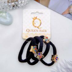 Резинка для волос Цветная сказка (набор 4 шт) корона QUEEN FAIR