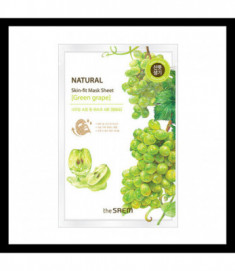 Маска тканевая виноград THE SAEM Natural Skin Fit Mask Sheet [green grape] 20ml