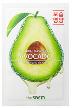 Маска тканевая с экстрактом авокадо THE SAEM Natural Avocado Mask Sheet 21мл