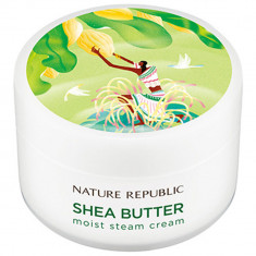 крем для лица паровой увлажняющий для нормальной и сухой кожи nature republic shea butter steam cream moist