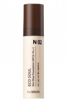 Тональная основа THE SAEM Eco Soul Skin Wear Foundation N02 Warm tone 30мл
