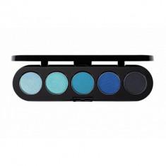Палитра теней, 5 цветов Make-Up Atelier Paris T25 голубые оттенки
