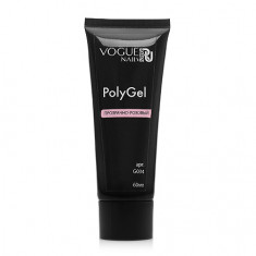 Vogue Nails, PolyGel, прозрачно-розовый, 60 мл