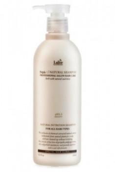 Шампунь с протеинами шелка и кератином LA'DOR Triplex natural shampoo 530мл