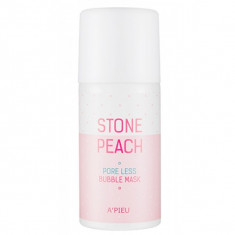 маска для лица кислородная a'pieu stone peach pore less bubble mask