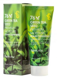 FARMSTAY Пенка очищающая увлажняющая с семенами зеленого чая / Cleansing Foam 100 мл