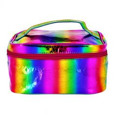 Косметичка-сундучок LADY PINK RAINBOW разноцветная