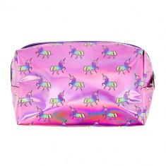 Косметичка LADY PINK UNICORN голографическая розовая