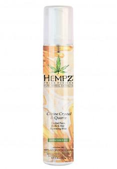 HEMPZ Спрей увлажняющий для лица, тела и волос с мерцающим эффектом Желтый Кварц / Citrine Crystal & Quartz Herbal Face, Body & Hair Hydrating Mist 150 мл