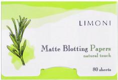LIMONI Салфетки матирующие для лица / Matte Blotting Papers 80 шт