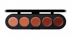 Палетка блесков и помад, 5 цветов Make-Up Atelier Paris №06 коричнево-оранжевая гамма, 10г
