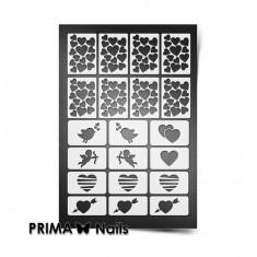 Prima Nails, Трафареты «День Влюбленных», белые