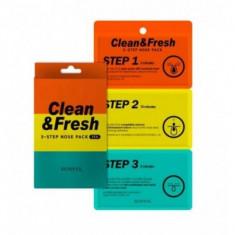 трехэтапные полоски для носа eunyul clean & fresh 3-step nose pack