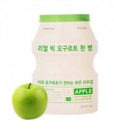Тканевая маска йогуртовая с яблоком A'PIEU Яблоко Real Big Yogurt One-Bottle Apple 21г