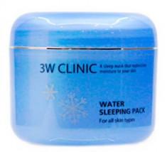 Маска ночная увлажняющая 3W CLINIC Water sleeping pack 100мл