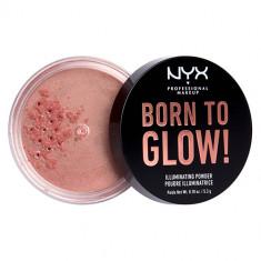Хайлайтер для лица NYX PROFESSIONAL MAKEUP BORN TO GLOW рассыпчатый тон Eternal glow