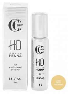 LUCAS' COSMETICS Хна для бровей, золотистый пшеничный / CC Brow Premium henna HD Golden wheat 5 г