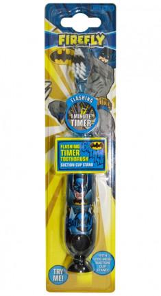 Batman FIREFLY Детская зубная щетка с таймером-подсветкой на присоске