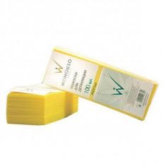 Полоска для депиляции 7 см*20 см, желтая, 100 шт. (Italwax)