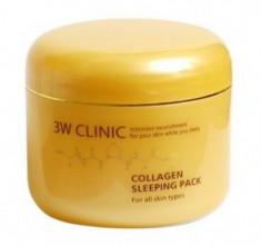 Маска ночная укрепляющая с морским коллагеном 3W CLINIC Collagen sleeping pack 100мл
