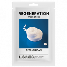Восстанавливающая тканевая маска с бета-глюканом L.SANIC BETA-GLUCAN REGENERATION MASK SHEET 25мл