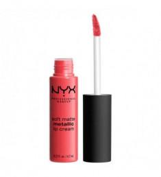 NYX PROFESSIONAL MAKEUP Матовая жидкая помада Soft Matte Metallic Lip Cream - Manila 07