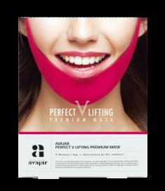 Маска лифтинговая розовая AVAJAR perfect V lifting premium mask 1 шт