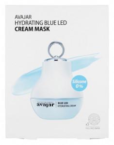 Маска увлажняющая кремовая Avajar Hydrating Blue Led Cream Mask 5 шт