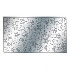 Freedecor, Металлизированные наклейки №200, серебро