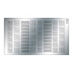 Freedecor, Металлизированные наклейки №204, серебро