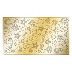 Freedecor, Металлизированные наклейки №200, золото