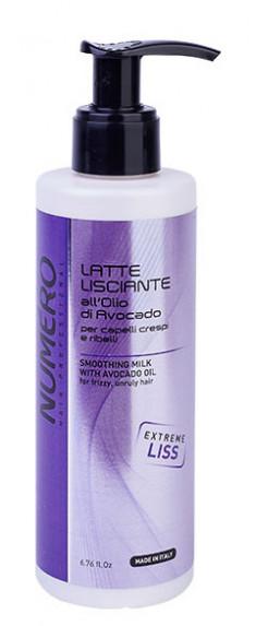 BRELIL PROFESSIONAL Молочко разглаживающее с маслом авокадо для пушистых и непослушных волос / Numero 200 мл