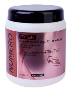 BRELIL PROFESSIONAL Маска для придания бриллиантового блеска волосам, с маслом арганы и макадамии / Numero 1000 мл