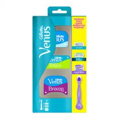 Станок для бритья GILLETTE VENUS с 3 сменными кассетами smooth, extra smooth, comfortglide