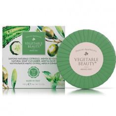 Vegetable Beauty натуральное мыло огурец, мята и олива 100 г
