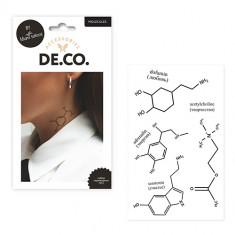 Набор переводных татуировок для тела DE.CO. BACK TO SCHOOL by Miami tattoos Molecules