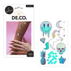 Набор переводных татуировок для тела DE.CO. BEAUTY BOO by Miami tattoos Holographic
