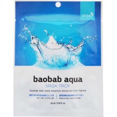 Тканевая маска для лица с экстрактом баобаба Baobab Aqua Mask Pack Bergamo