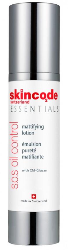 SKINCODE Лосьон матирующий для жирной кожи / ESSENTIALS S.O.S OIL CONTROL 50 мл