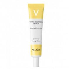 тонизирующий витаминный крем для кожи вокруг глаз с пептидами medi flower aronyx vitamin brightening eye cream