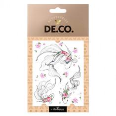 Татуировка для тела DE.CO. WATERCOLOR STORY by Miami tattoos переводная Fishy