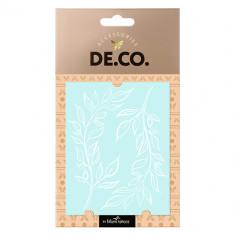 Татуировка для тела DE.CO. WHITE TATTOO by Miami tattoos переводная Leaves Lace