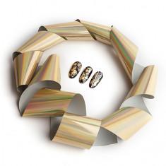 Rosi, Фольга переводная, голографическая золотая, 1 м