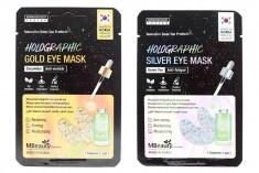 голографические патчи для глаз mbeauty holographic eye zone mask