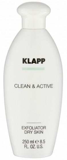 KLAPP Эксфолиатор для сухой кожи / CLEAN & ACTIVE 250 мл