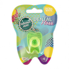Нить зубная GLOBAL WHITE Delicious mint 15 м