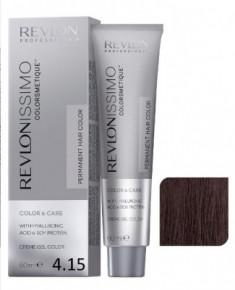 Краска перманентная Revlon Professional Revlonissimo Colorsmetique 4.15 Коричневый Пепельно-Махагоновый 60мл