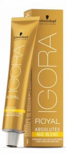 Крем-краска для седых волос Schwarzkopf Professional Igora Royal Absolutes Age Blend 4-80 Средний Коричневый Красный Натуральный 60 мл