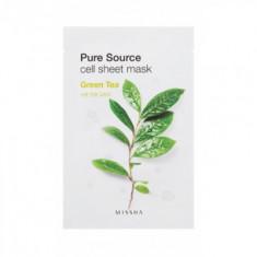 Увлажняющая маска для лица MISSHA Pure Source Cell Sheet Mask (Green Tea)